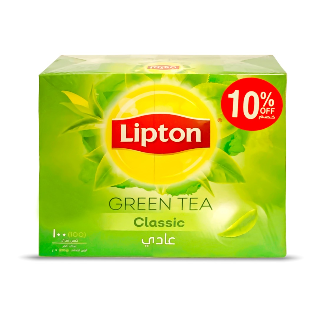 LIPTON 1.7G GREEN TB 100'S CLASSIC @10% OFF
