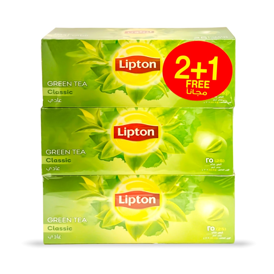 LIPTON 1.7G GREEN TB 25'S CLASSIC 2+1 FREE