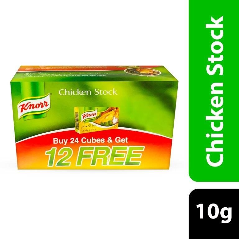 KNORR CHICKEN STOCK(24+12FREE)