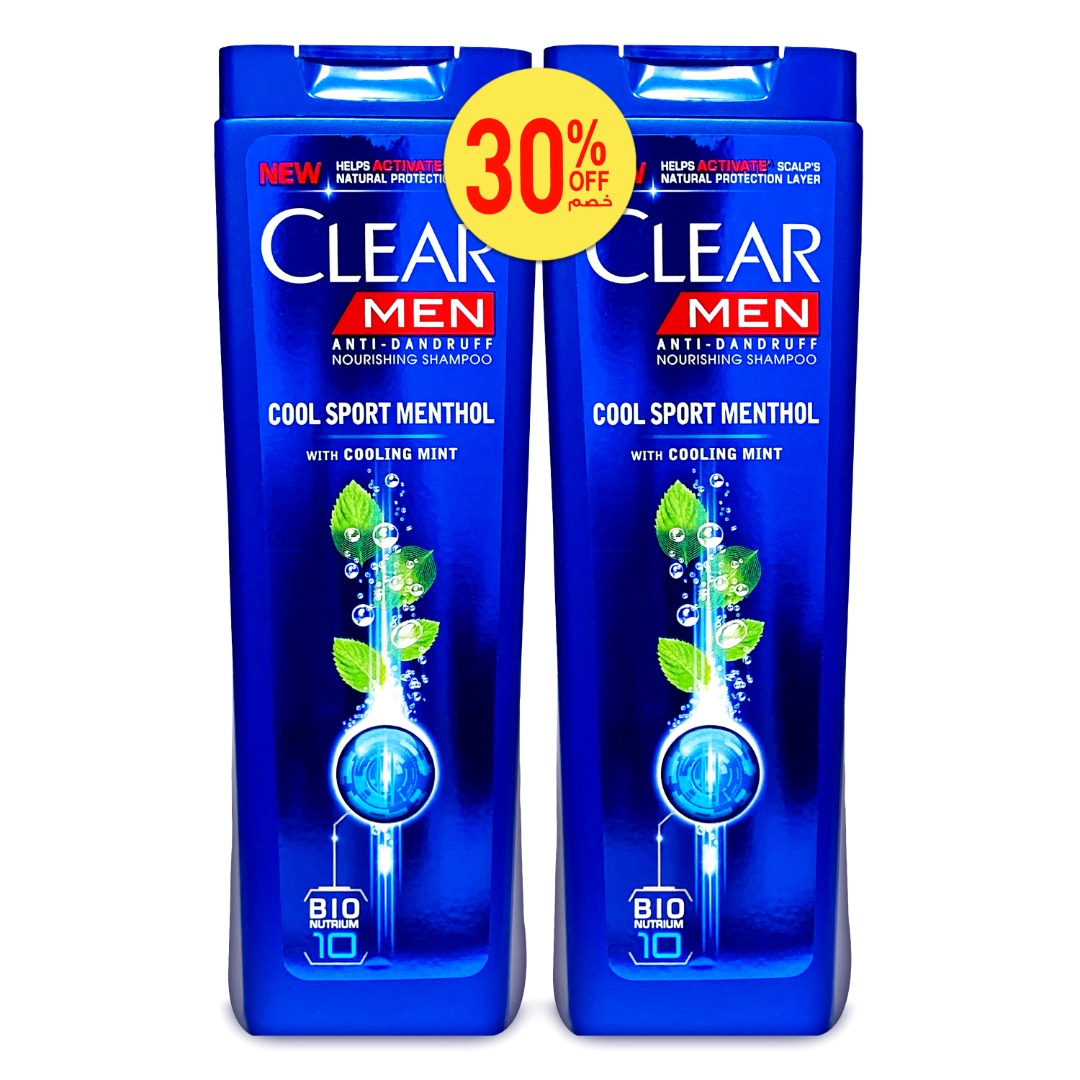 CLEAR SHAM 400ML COOL SPORT MENTHOL-MEN TP@30% OFF