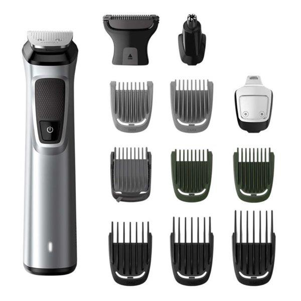 PHILIPS Multigroom Set, 13-in-1, Face, Hair and Body with DualCut technology; Up to 120 min run time