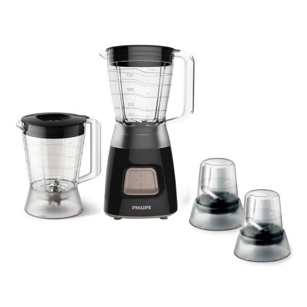 PHILIPS Daily Collection Blender,  450W and 4 stars stainless steel blade. 1.25 L Plastic jar