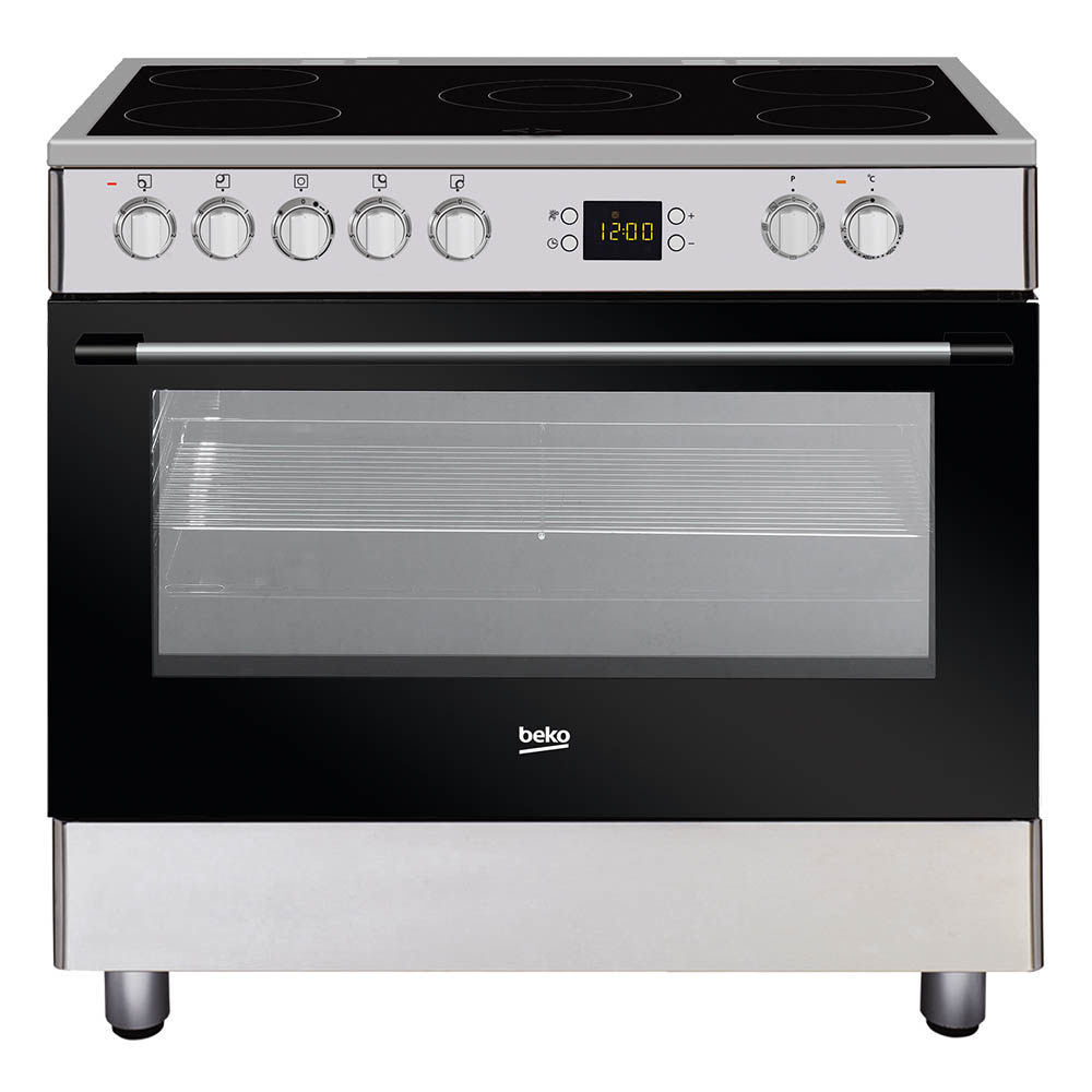 BEKO CERAMIC COOKER 90 x 60 CM STEEL Made In Turkey