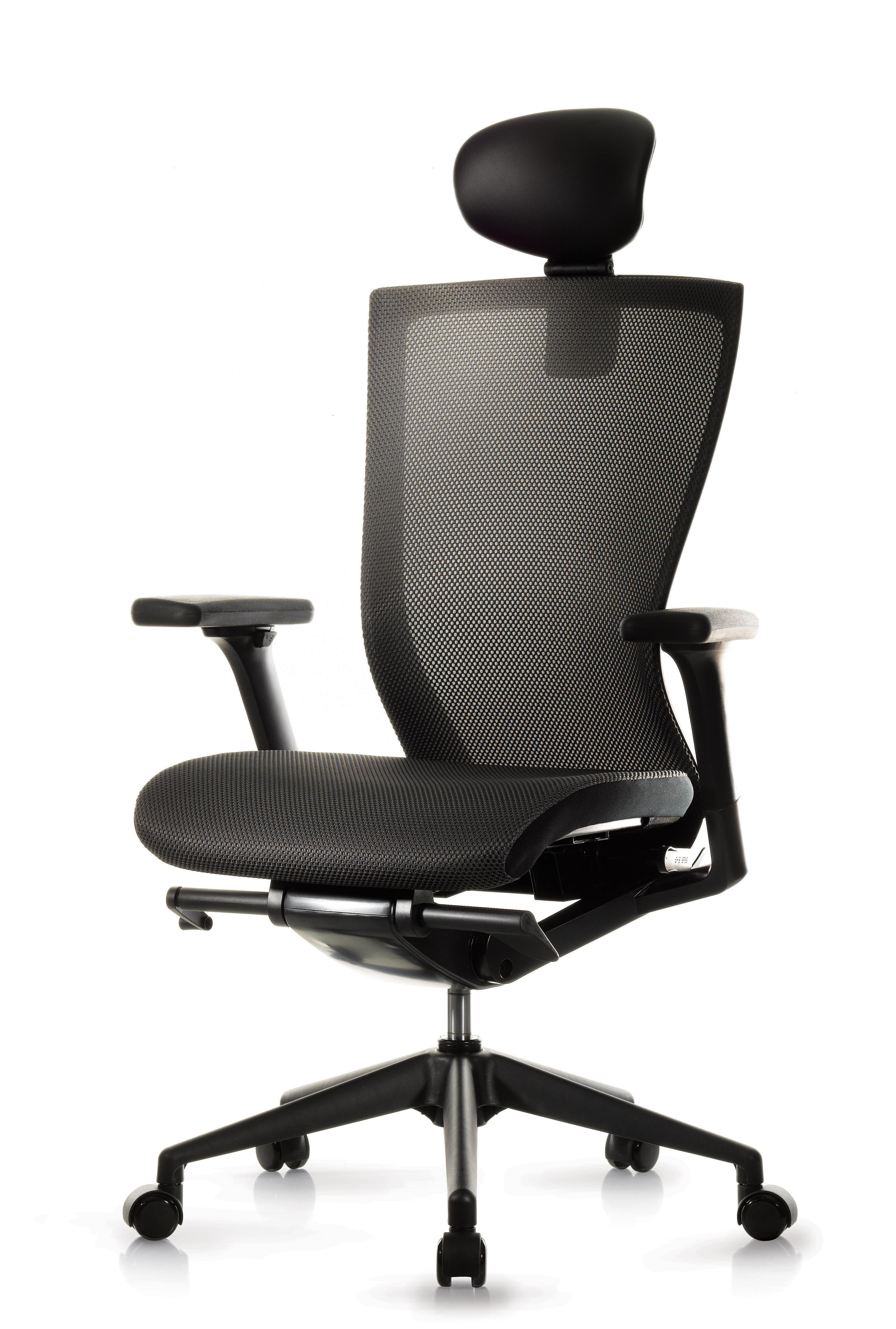 Medium Back Armchair with Headrest