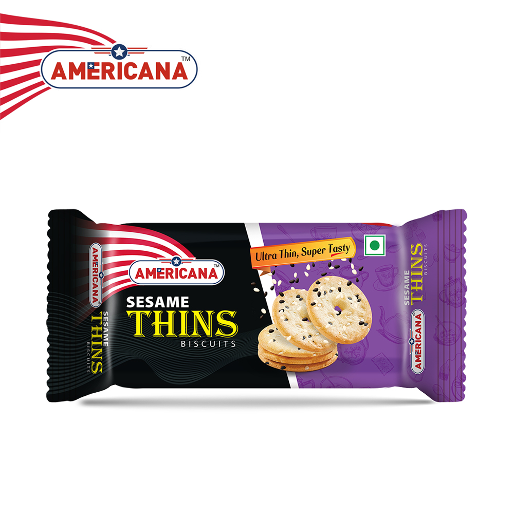 AMERICANA Sesame Thins Biscuits 36 g Pack