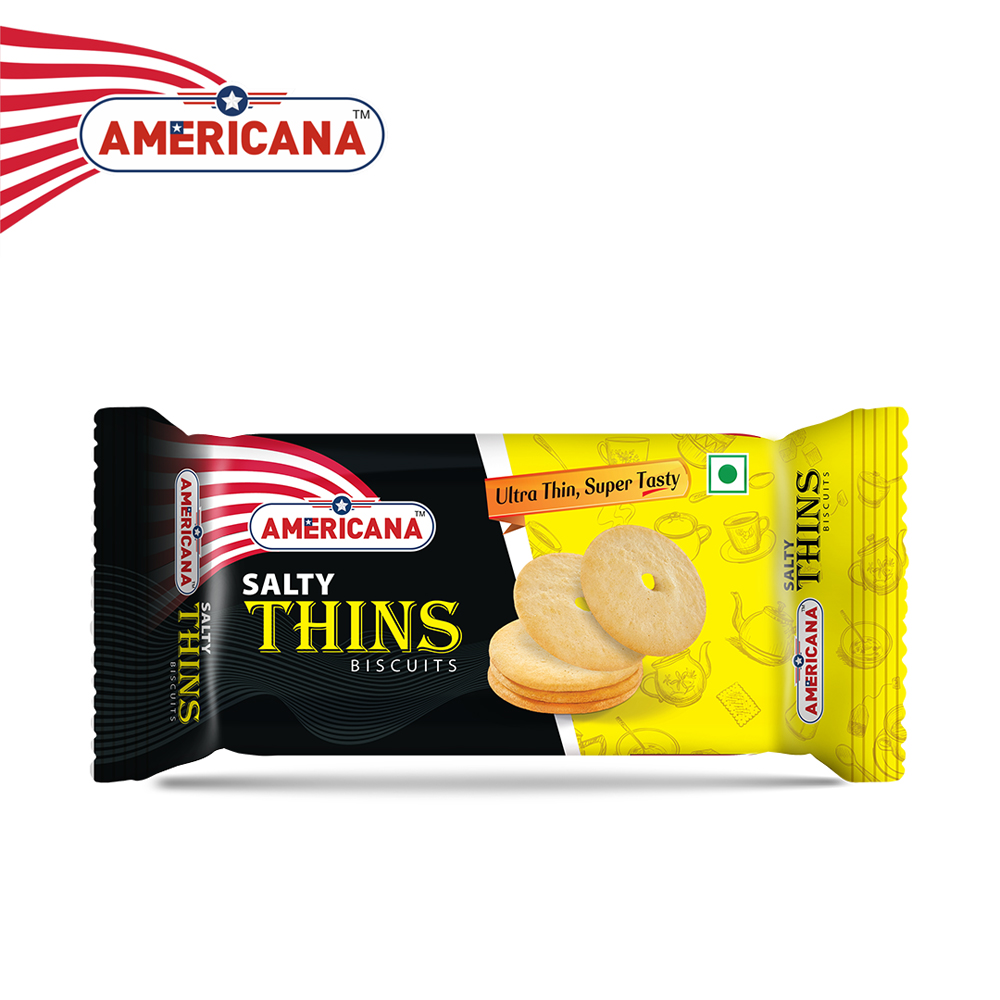 AMERICANA Salty Thins Biscuits 36 g Pack