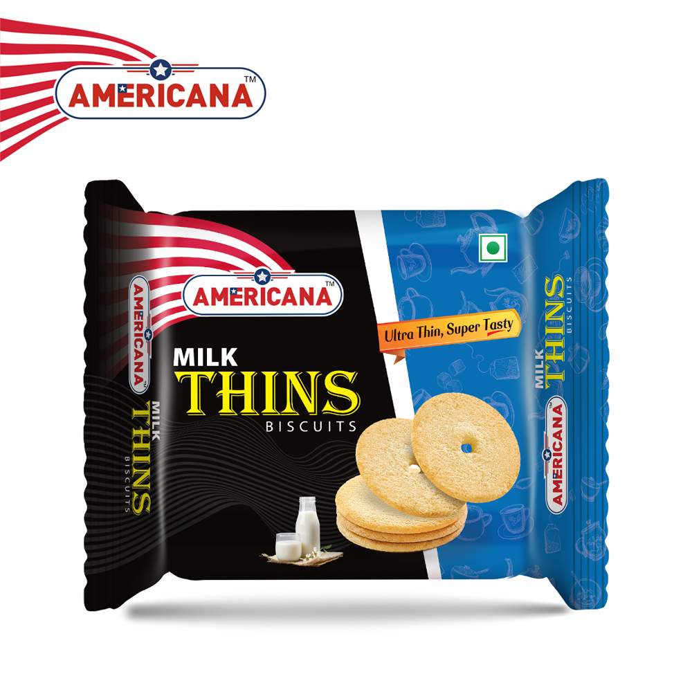 AMERICANA Milk Thins Biscuits 75 g Pack