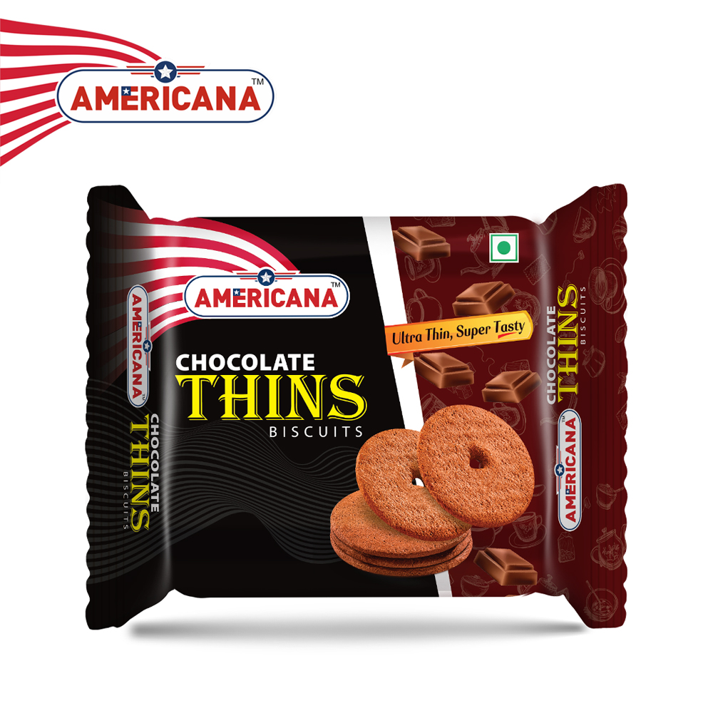 AMERICANA Chocolate Thins Biscuits 75 g Pack