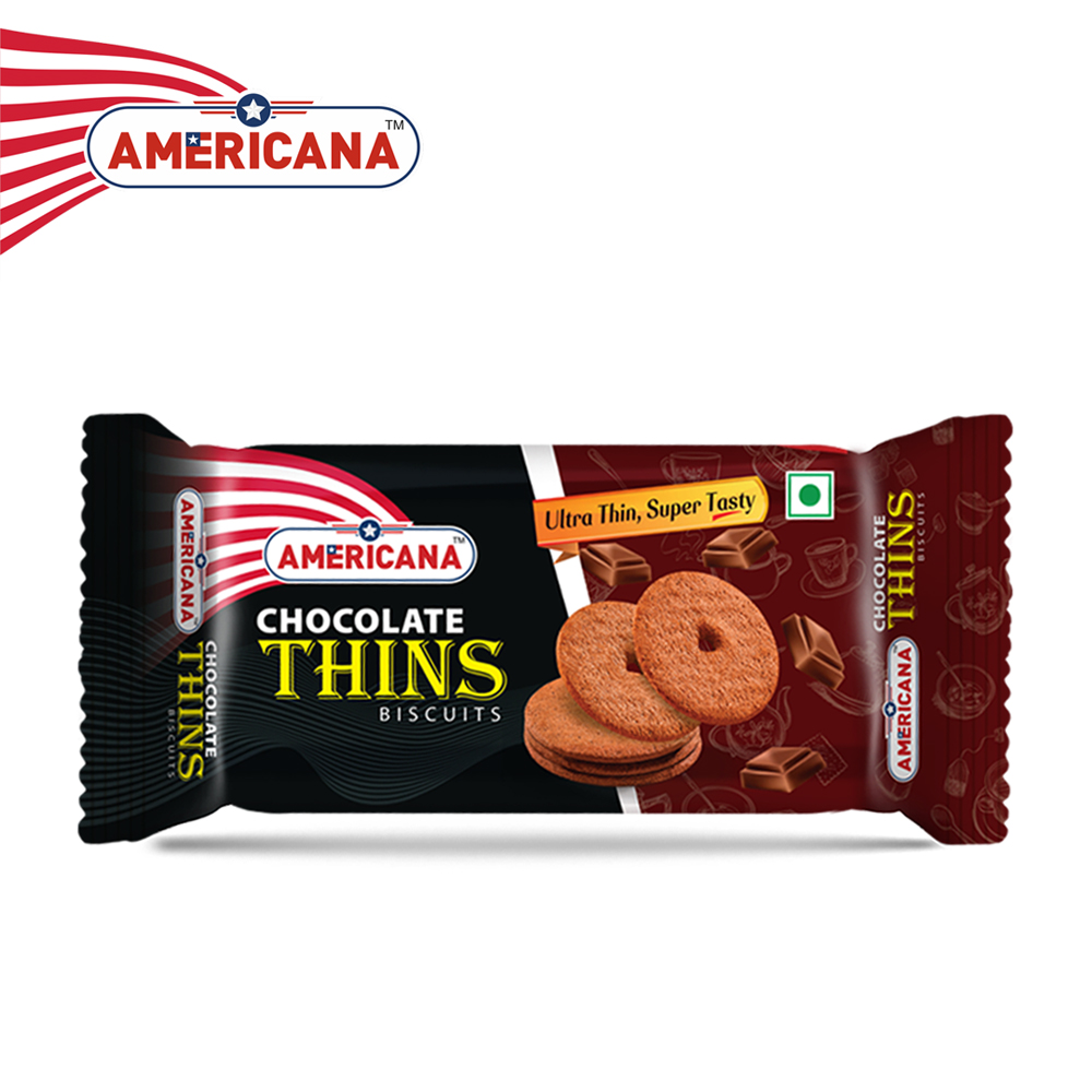AMERICANA Chocolate Thins Biscuits 36 g Pack