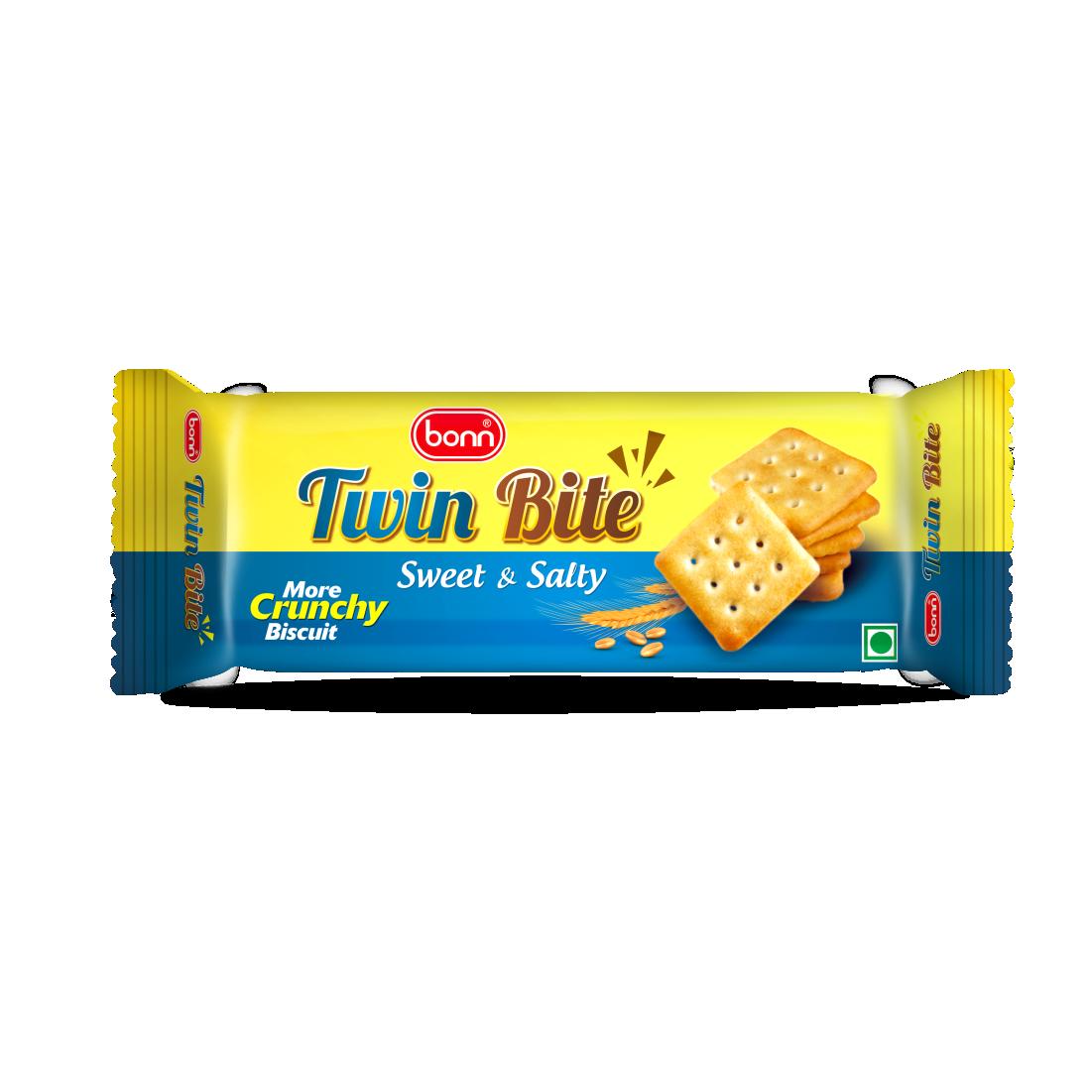 Bonn Twin Bite, Sweet & Salty Cracker Biscuits, 45 g Pack