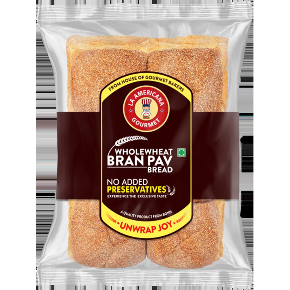 La Americana Wholewheat Bran Pav Bread 250 g