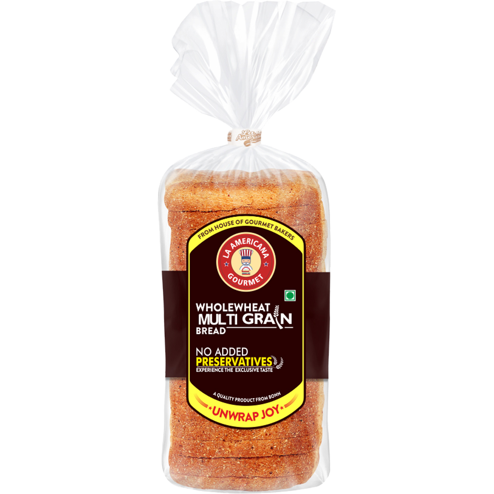 La Americana Wholewheat MULTIGRAIN BREAD 350 g