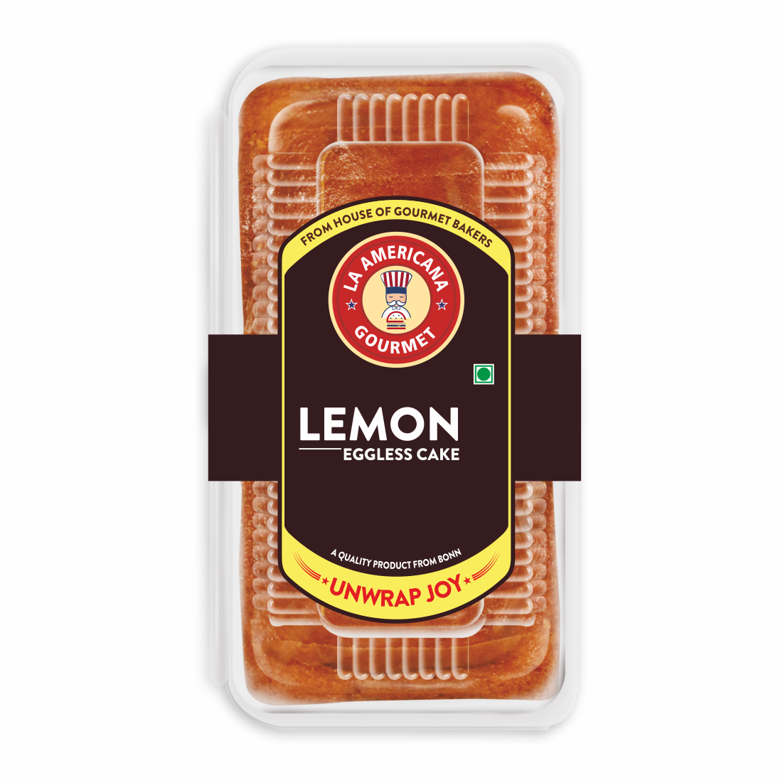 LA Americana Eggless Lemon Cake 200 g Pack