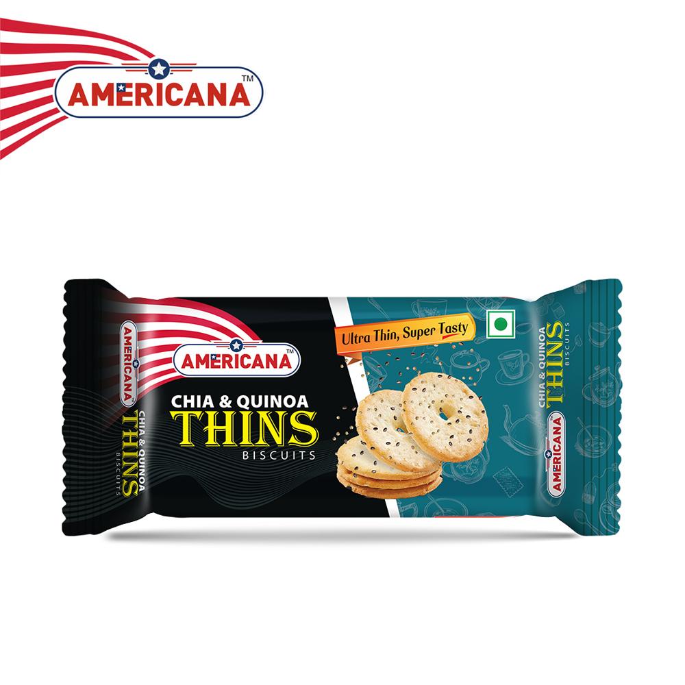 AMERICANA CHIA & Quinoa Thins Biscuits 36 g Pack
