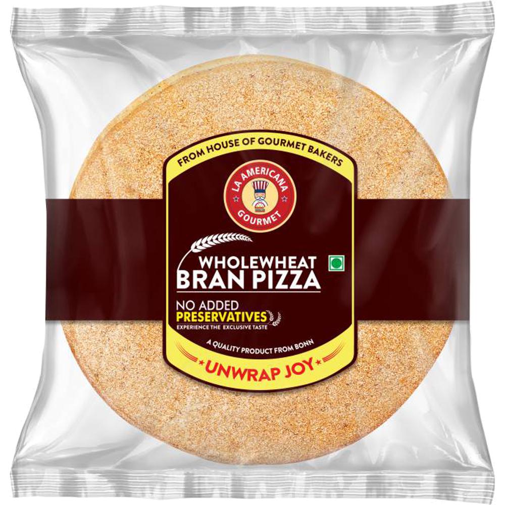 La Americana Wholewheat Bran Pizza 200 g