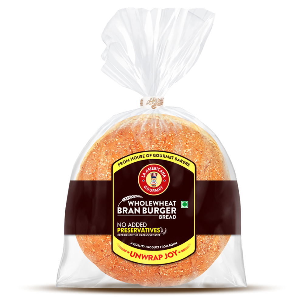 La Americana Wholewheat Bran Burger 150 g