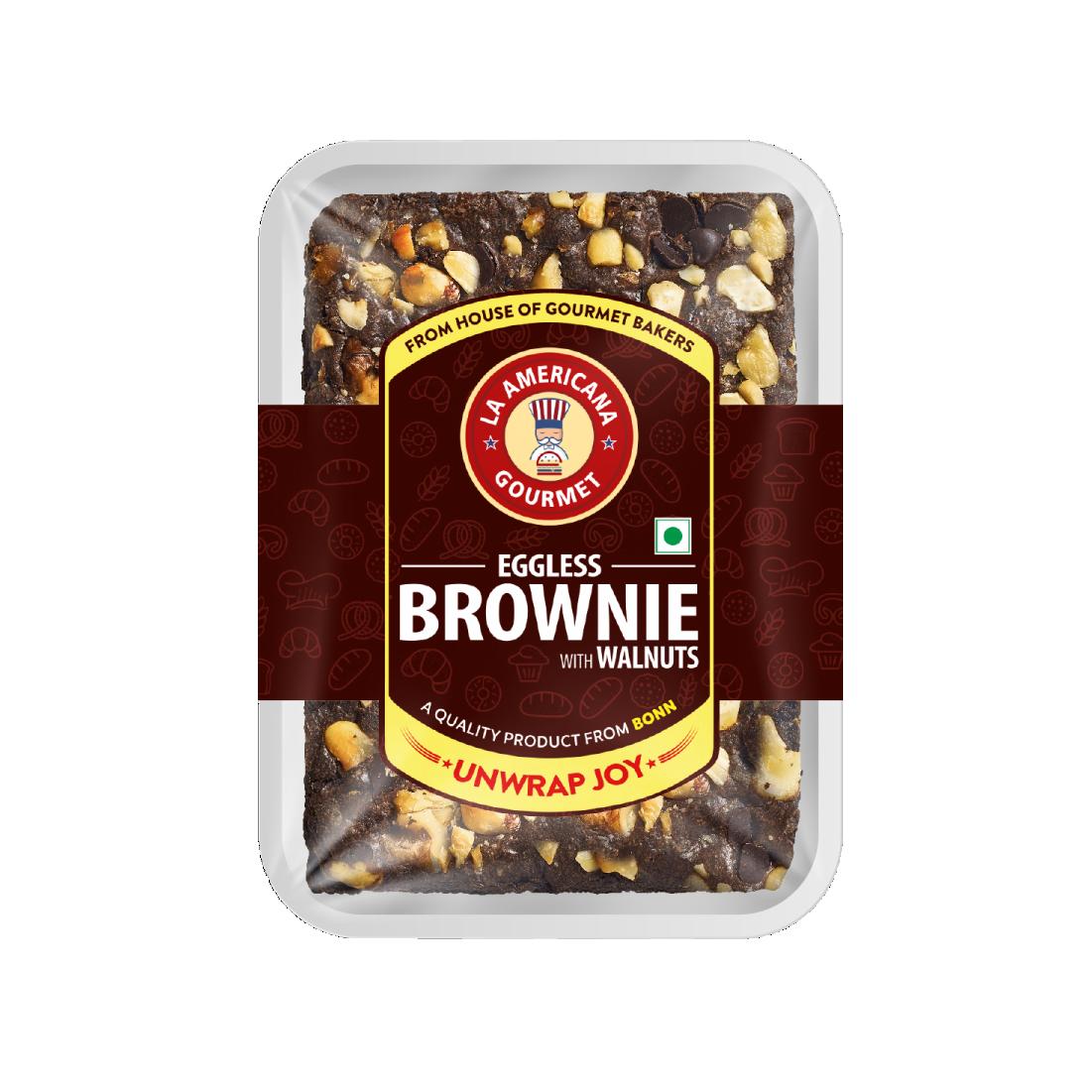 LA Americana Eggless Walnut Brownie 70g (Pack of 12)