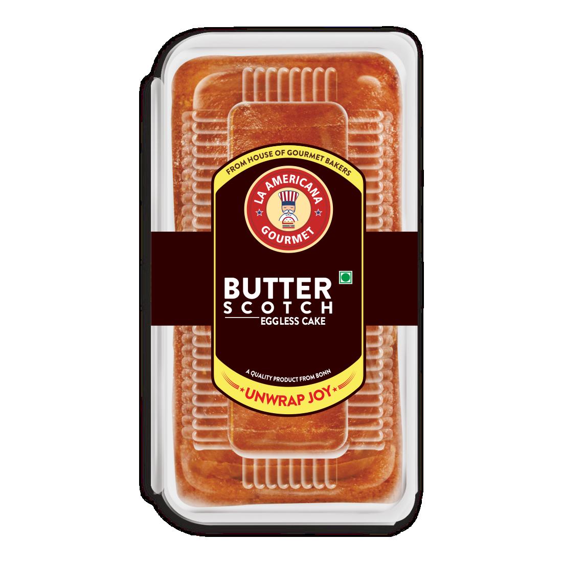 LA Americana Eggless Butter Scotch Cake 200g (Pack of 4)