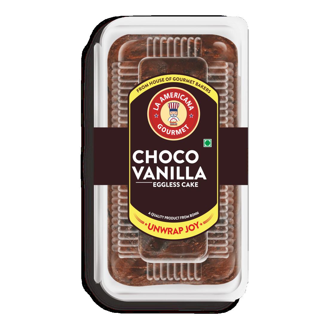 LA Americana Eggless Choco Vanilla Cake 200g (Pack of 4)