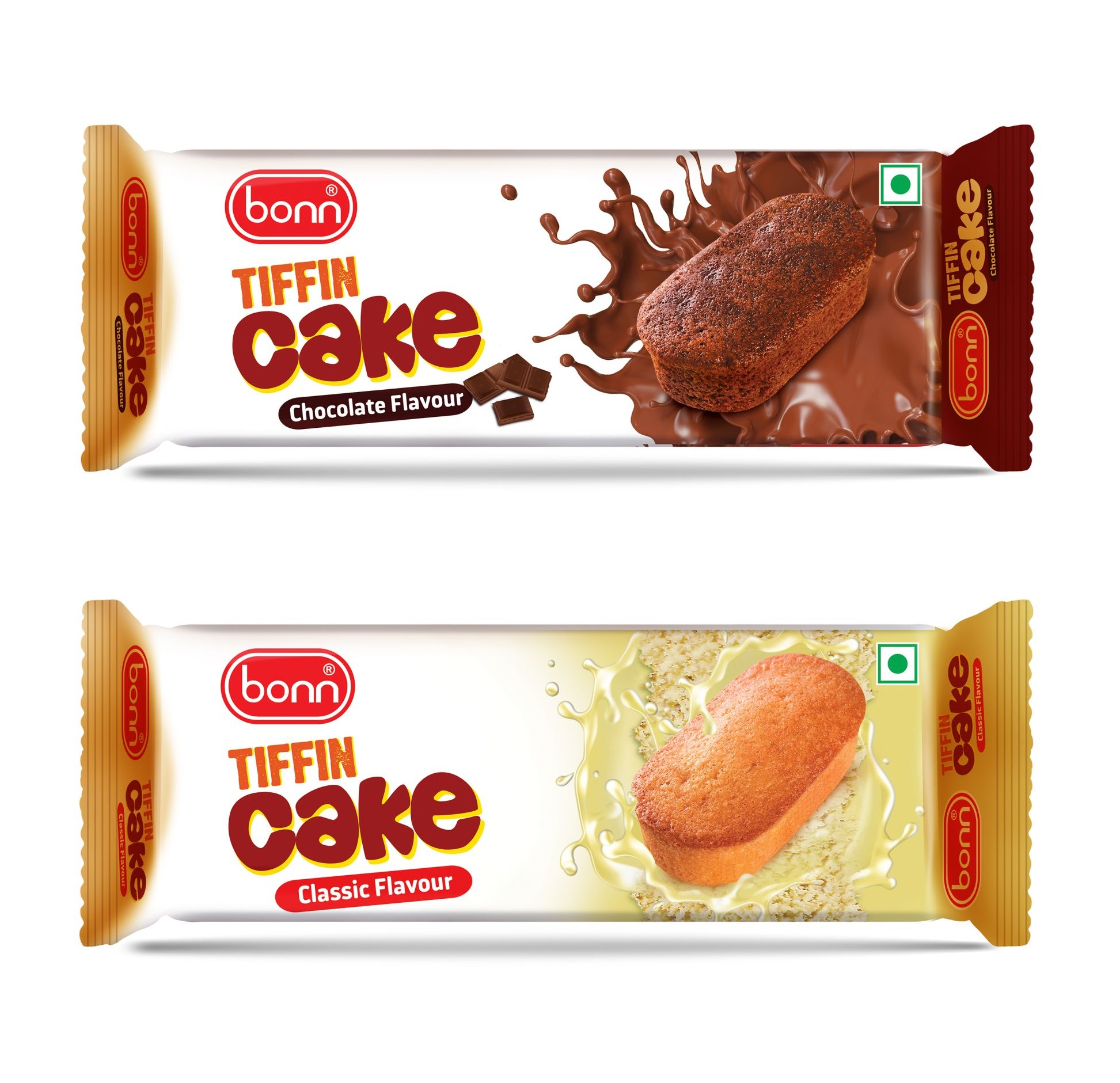 Bonn eggless Tiffin Cake Chocolate and classic flavour(10 PACK EACH)(Healthy and Delicious)Pack of 20(600 grams)