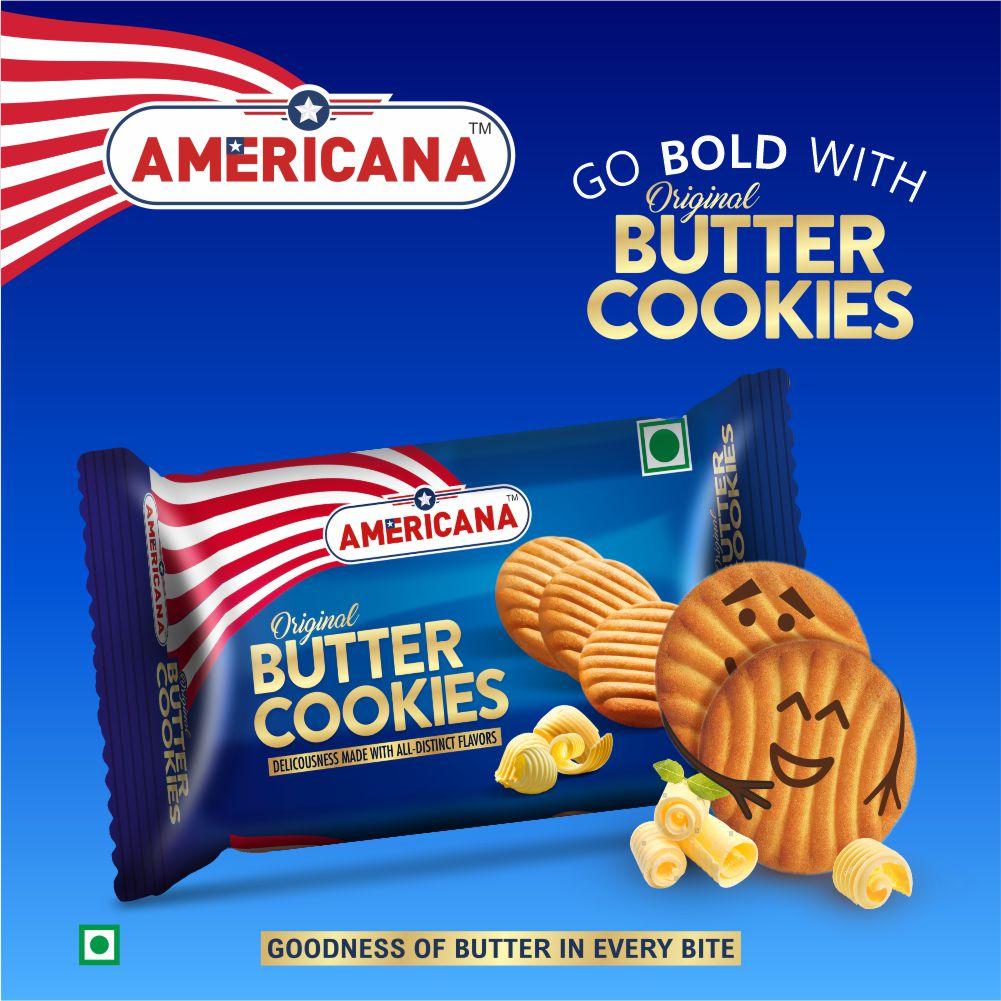 Americana Butter Cookies, Richness of Original Butter, 200 g Pack