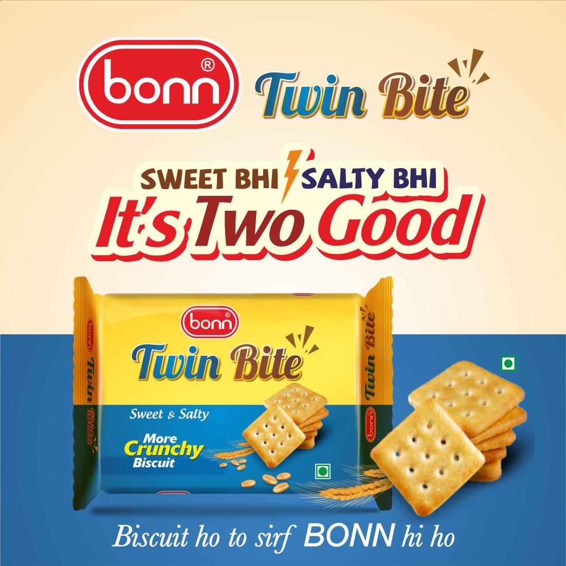 Bonn Twin Bite, Sweet & Salty Cracker Biscuits, 90 g Pack