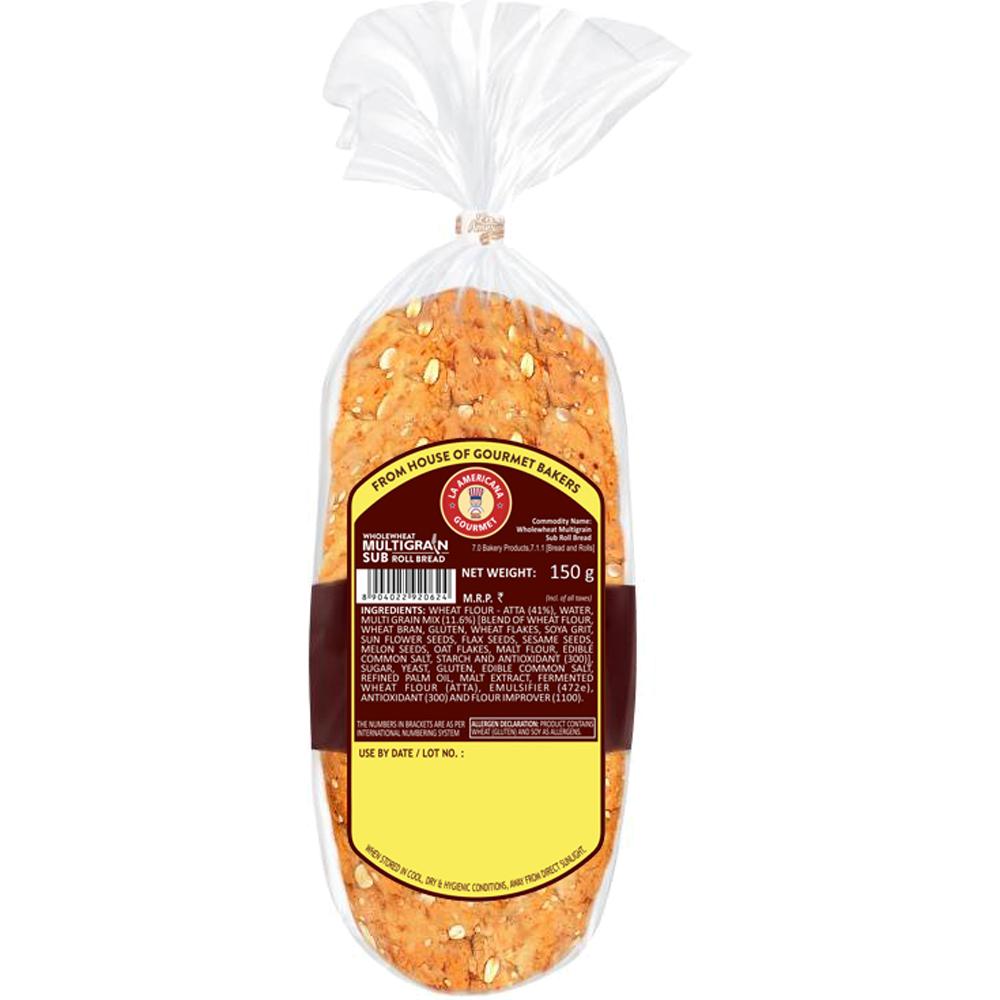 La Americana Wholewheat Multigrain Sub roll Bread 150 g