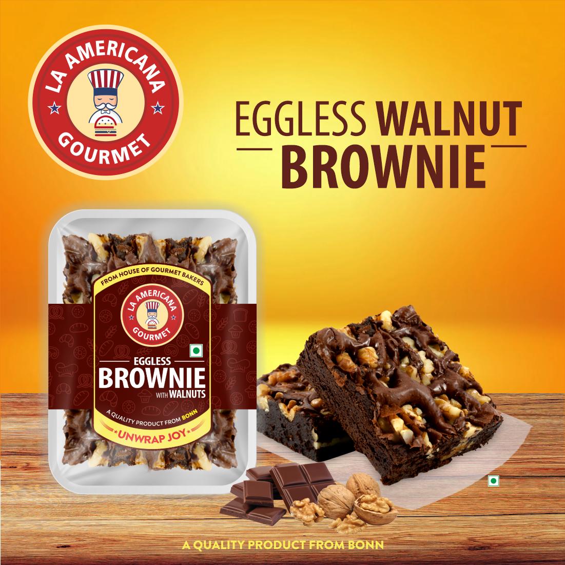 La Americana EGGLESS WALNUT BROWNIE 70 g