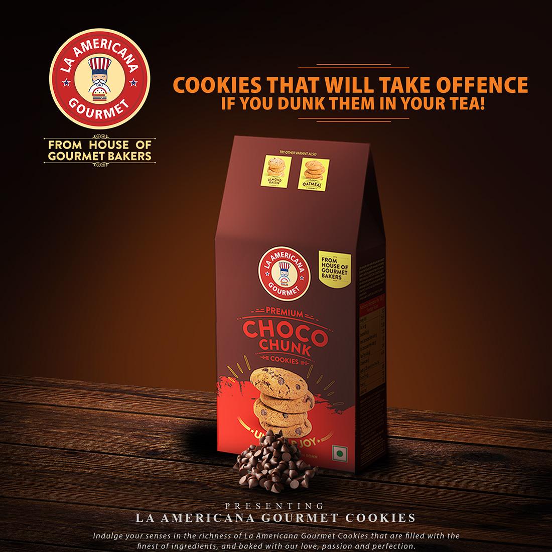 LA Americana Choco Chunk Cookies 100g Pack