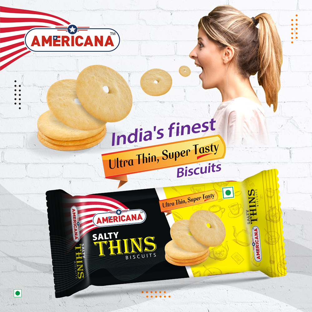 Americana Thins Biscuit Salty