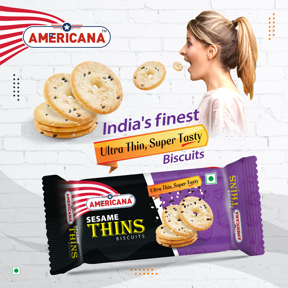 Americana Thins Biscuit Sesame