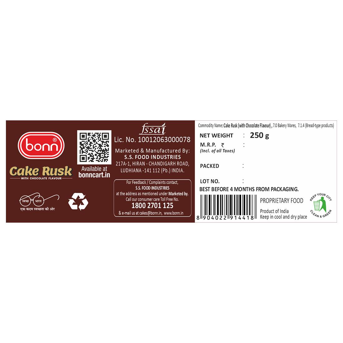 Bonn Cake Rusk (Chocolate flavour)