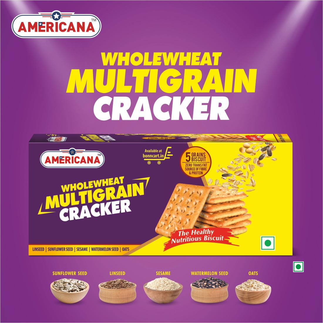 Americana Whole wheat Multigrain Cracker 120g