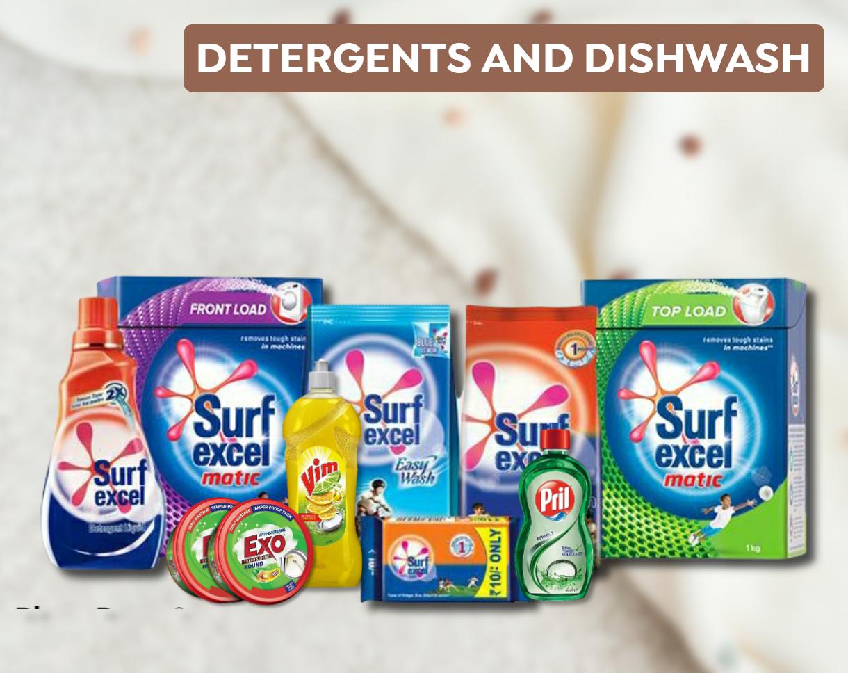 Detergents and Dishwasher