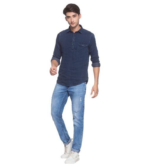 Men's Denim Pop-Over Shirt