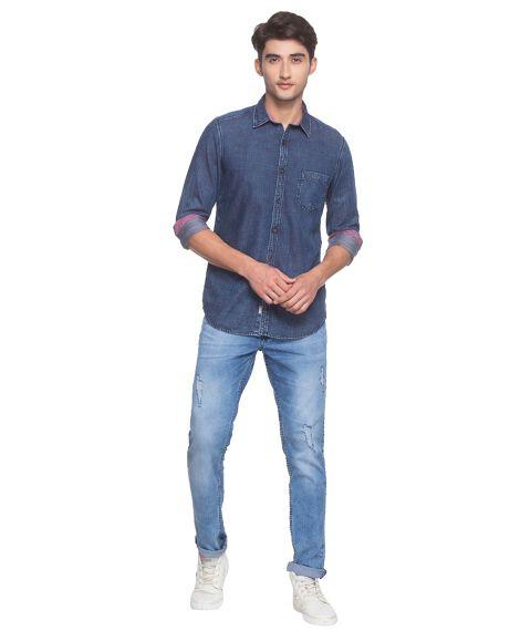 Men's Yarn-dyed, Two-tone Denim Shirt