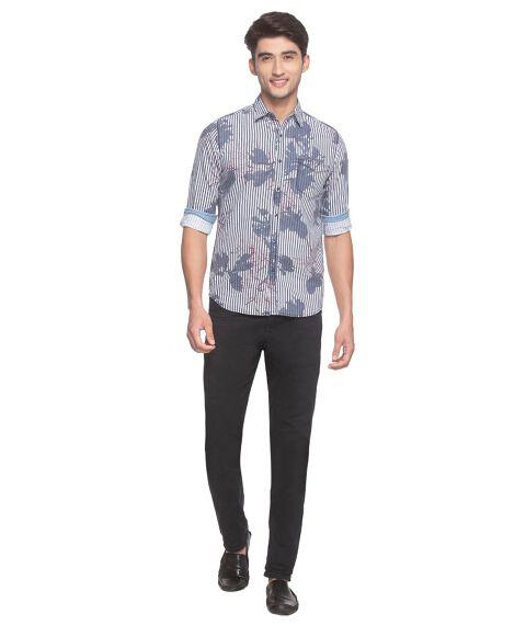 Men's Indigo Printed Shirt