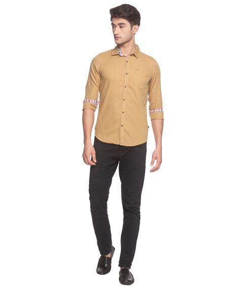 Pure Cotton Khaki shirt