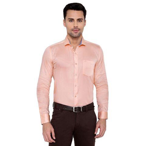 Men's cotton satin shirt