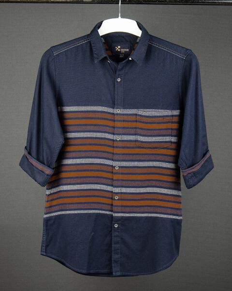 Panel Stripe Pattern shirt