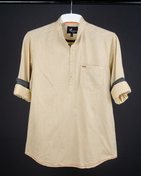 Printed Kurta Style Shirt