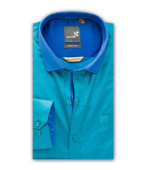 Men's Striped Party wear Shirt in Satin Fabric