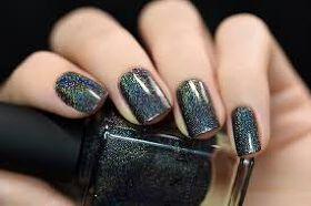 Black Nail paint