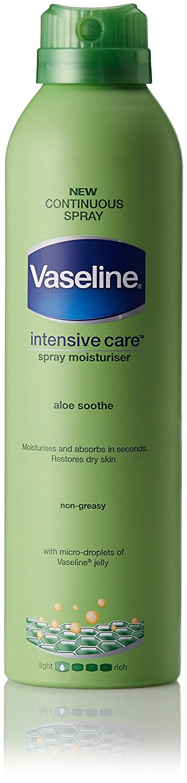 Vaseline Intensive Care Aloe Soothe Spray Moisturizer, 190ml