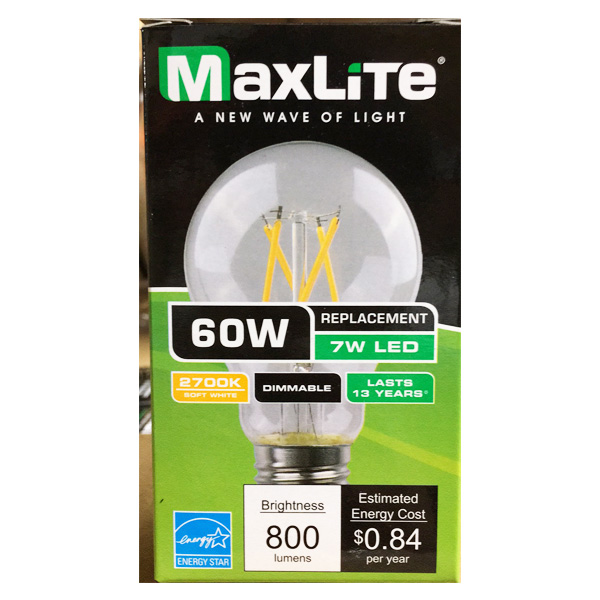 Maxlite LED Bulb 60W 1PK Soft White