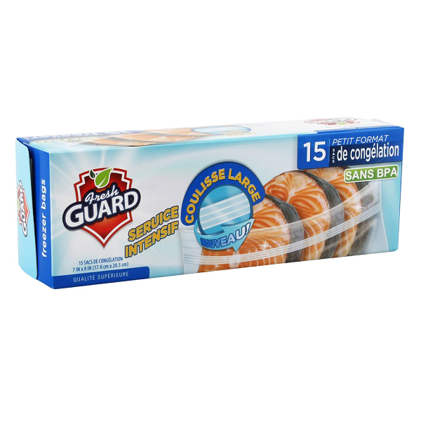Fresh Guard Freezer Bag Quart 15CT
