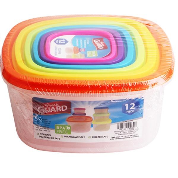 Fresh Guard Plastic Container Set 12PK
