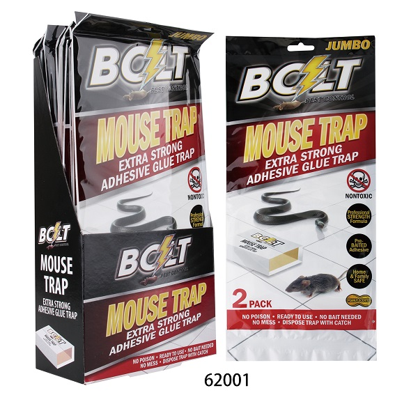 Bolt Pest Mouse Trap 2PK Jumbo Display