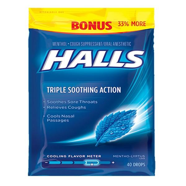 Halls Bag 40CT Menthol