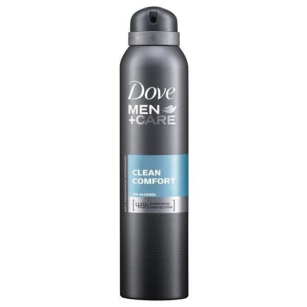 Dove Body Spray 150ML Men's + Care Clean Comfort
